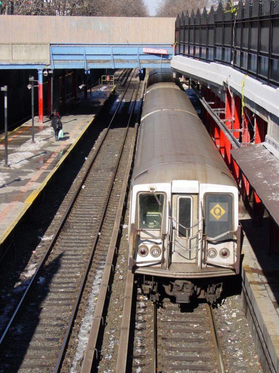 (102k, 576x768)<br><b>Country:</b> United States<br><b>City:</b> New York<br><b>System:</b> New York City Transit<br><b>Line:</b> BMT Brighton Line<br><b>Location:</b> Newkirk Plaza (fmrly Newkirk Ave.) <br><b>Route:</b> Q<br><b>Car:</b> R-40 (St. Louis, 1968)   <br><b>Photo by:</b> Richard Panse<br><b>Date:</b> 2/2004<br><b>Viewed (this week/total):</b> 0 / 5071