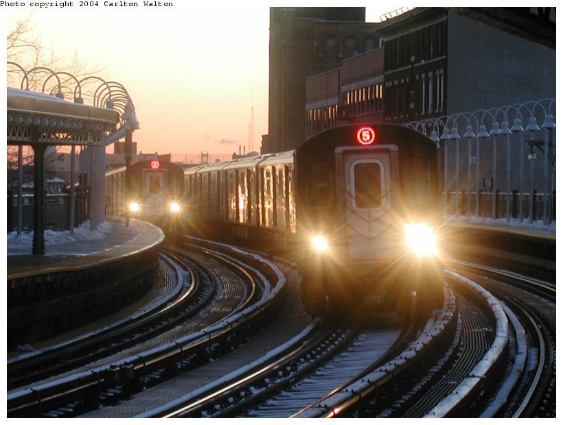(83k, 820x620)<br><b>Country:</b> United States<br><b>City:</b> New York<br><b>System:</b> New York City Transit<br><b>Line:</b> IRT White Plains Road Line<br><b>Location:</b> 174th Street <br><b>Route:</b> 5<br><b>Car:</b> R-142 (Primary Order, Bombardier, 1999-2002)  6760 <br><b>Photo by:</b> Carlton Walton<br><b>Date:</b> 1/20/2004<br><b>Viewed (this week/total):</b> 2 / 8680