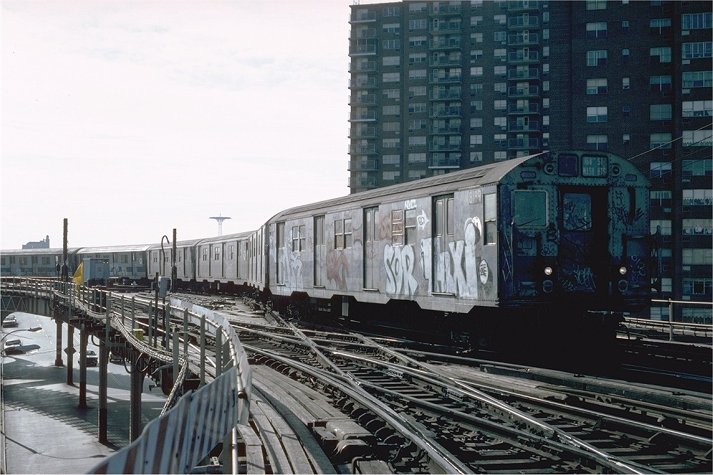 (229k, 1024x683)<br><b>Country:</b> United States<br><b>City:</b> New York<br><b>System:</b> New York City Transit<br><b>Line:</b> BMT West End Line<br><b>Location:</b> Bay 50th Street <br><b>Route:</b> B<br><b>Car:</b> R-27 (St. Louis, 1960)  8189 <br><b>Photo by:</b> Steve Zabel<br><b>Collection of:</b> Joe Testagrose<br><b>Date:</b> 12/11/1981<br><b>Viewed (this week/total):</b> 1 / 4816