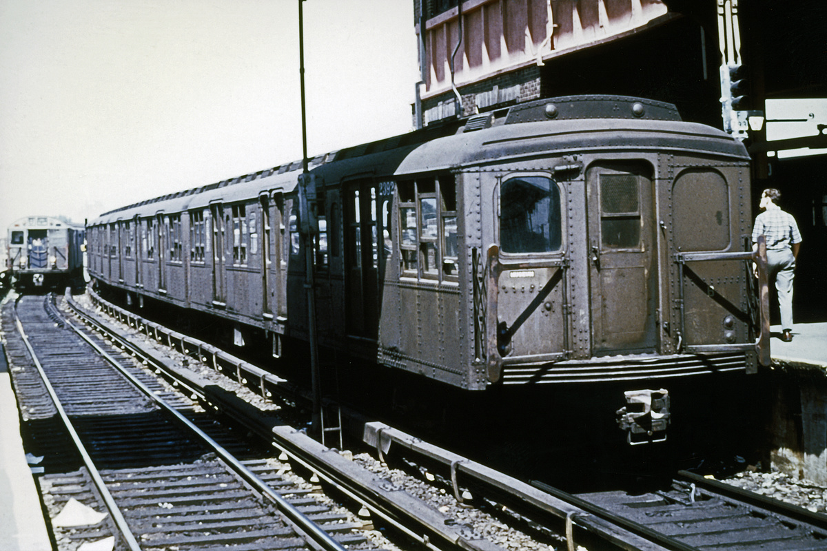 (316k, 1024x683)<br><b>Country:</b> United States<br><b>City:</b> New York<br><b>System:</b> New York City Transit<br><b>Location:</b> Coney Island/Stillwell Avenue<br><b>Route:</b> Fan Trip<br><b>Car:</b> BMT A/B-Type Standard 2392 <br><b>Collection of:</b> David Pirmann<br><b>Date:</b> 8/23/1969<br><b>Viewed (this week/total):</b> 1 / 3111