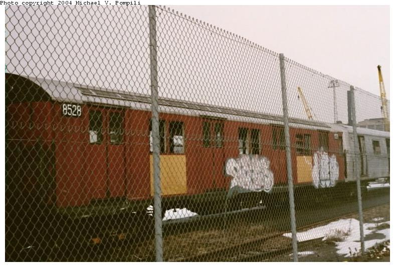 (83k, 788x532)<br><b>Country:</b> United States<br><b>City:</b> New York<br><b>System:</b> New York City Transit<br><b>Line:</b> South Brooklyn Railway<br><b>Location:</b> SBK Yard (2nd Ave at 38th St.) (SBK)<br><b>Car:</b> R-30 (St. Louis, 1961) 8528 <br><b>Photo by:</b> Michael Pompili<br><b>Date:</b> 1/27/2001<br><b>Viewed (this week/total):</b> 0 / 3052