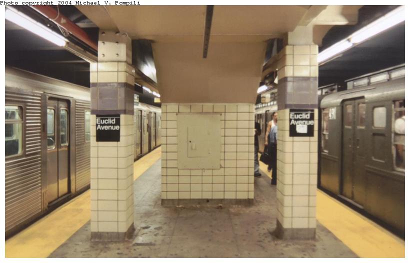 (67k, 820x526)<br><b>Country:</b> United States<br><b>City:</b> New York<br><b>System:</b> New York City Transit<br><b>Line:</b> IND Fulton Street Line<br><b>Location:</b> Euclid Avenue <br><b>Route:</b> Fan Trip<br><b>Photo by:</b> Michael Pompili<br><b>Date:</b> 8/24/2003<br><b>Viewed (this week/total):</b> 1 / 3756