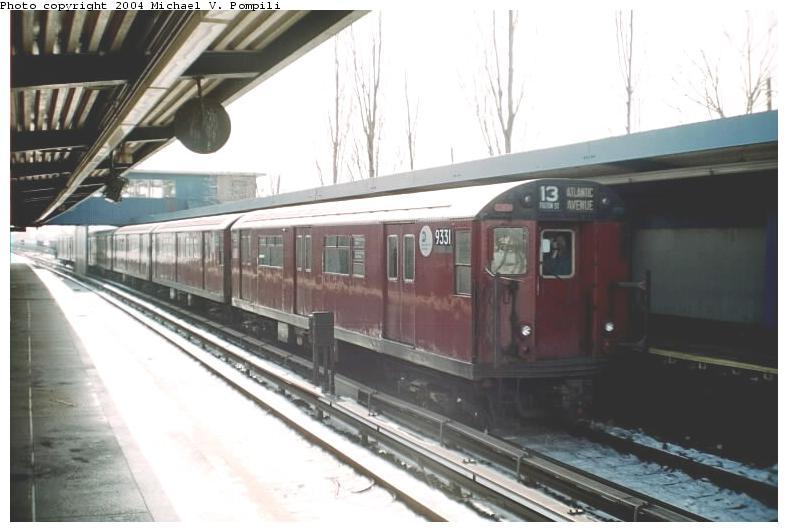 (59k, 788x532)<br><b>Country:</b> United States<br><b>City:</b> New York<br><b>System:</b> New York City Transit<br><b>Line:</b> IND Rockaway<br><b>Location:</b> Broad Channel <br><b>Route:</b> Fan Trip<br><b>Car:</b> R-33 World's Fair (St. Louis, 1963-64) 9331 <br><b>Photo by:</b> Michael Pompili<br><b>Date:</b> 12/8/2002<br><b>Viewed (this week/total):</b> 0 / 3306