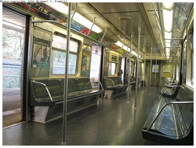 (106k, 820x620)<br><b>Country:</b> United States<br><b>City:</b> New York<br><b>System:</b> New York City Transit<br><b>Line:</b> BMT Myrtle Avenue Line<br><b>Location:</b> Metropolitan Avenue <br><b>Route:</b> M<br><b>Car:</b> R-42 (St. Louis, 1969-1970)  4633 <br><b>Photo by:</b> Michael Pompili<br><b>Date:</b> 11/5/2003<br><b>Viewed (this week/total):</b> 1 / 5594