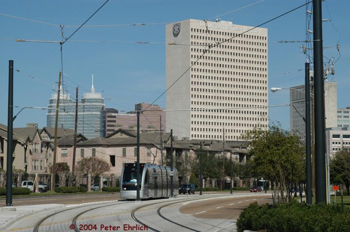 (152k, 720x478)<br><b>Country:</b> United States<br><b>City:</b> Houston, TX<br><b>System:</b> Houston METRORail<br><b>Location:</b> Braeswood & Greenbriar <br><b>Car:</b> Siemens Avanto 104 <br><b>Photo by:</b> Peter Ehrlich<br><b>Date:</b> 2/6/2004<br><b>Notes:</b> View east from Braeswood and Greenbriar.  The twin towers are St. Luke's.<br><b>Viewed (this week/total):</b> 1 / 3553