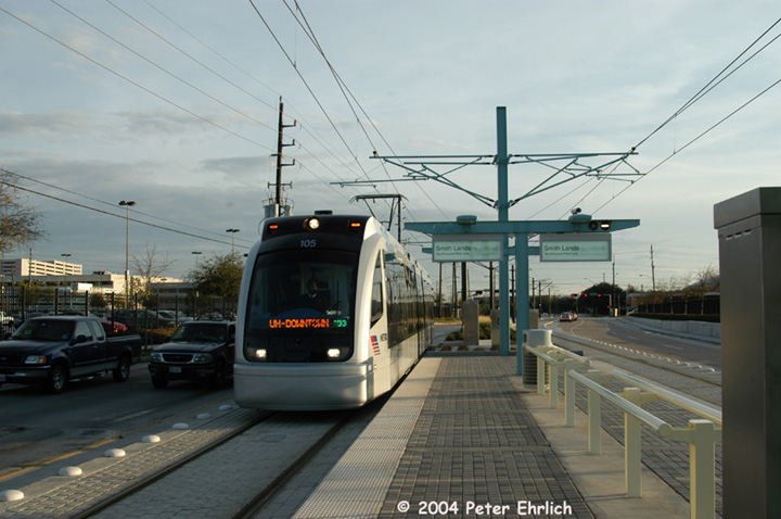 (125k, 720x478)<br><b>Country:</b> United States<br><b>City:</b> Houston, TX<br><b>System:</b> Houston METRORail<br><b>Location:</b> Smith Lands <br><b>Car:</b> Siemens Avanto 105 <br><b>Photo by:</b> Peter Ehrlich<br><b>Date:</b> 2/5/2004<br><b>Viewed (this week/total):</b> 0 / 3259