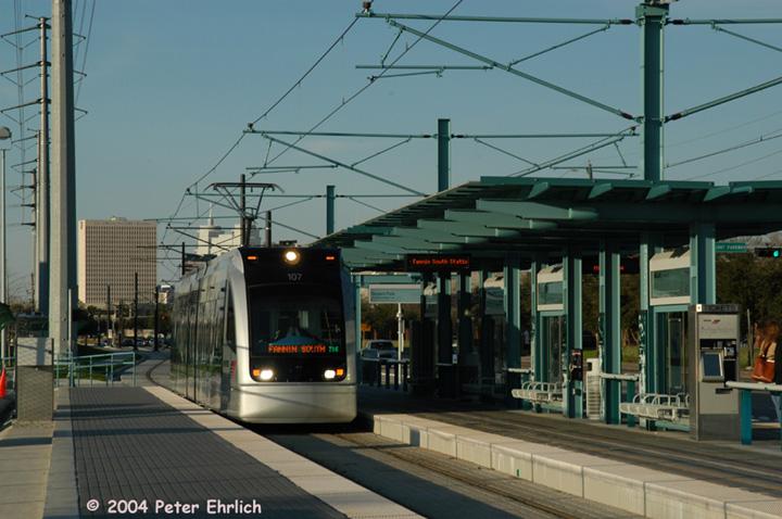 (136k, 720x478)<br><b>Country:</b> United States<br><b>City:</b> Houston, TX<br><b>System:</b> Houston METRORail<br><b>Location:</b> Reliant Park <br><b>Car:</b> Siemens Avanto 107 <br><b>Photo by:</b> Peter Ehrlich<br><b>Date:</b> 2/6/2004<br><b>Viewed (this week/total):</b> 0 / 3063