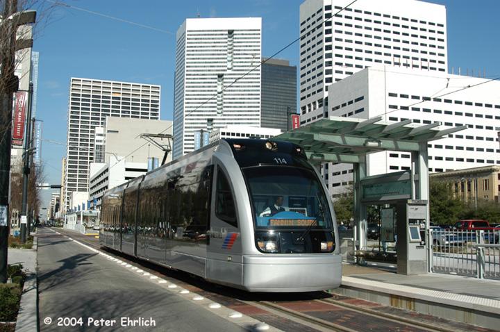 (181k, 720x478)<br><b>Country:</b> United States<br><b>City:</b> Houston, TX<br><b>System:</b> Houston METRORail<br><b>Location:</b> Bell <br><b>Car:</b> Siemens Avanto 114 <br><b>Photo by:</b> Peter Ehrlich<br><b>Date:</b> 2/5/2004<br><b>Viewed (this week/total):</b> 1 / 3872