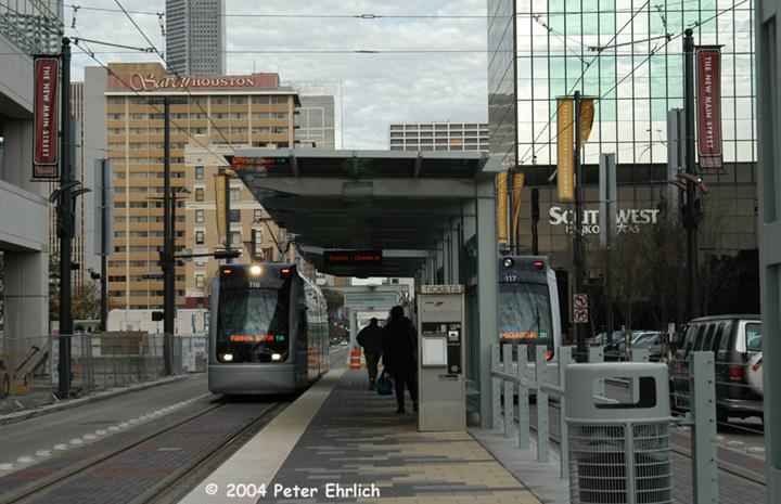 (152k, 720x465)<br><b>Country:</b> United States<br><b>City:</b> Houston, TX<br><b>System:</b> Houston METRORail<br><b>Location:</b> Downtown Transit Center <br><b>Car:</b> Siemens Avanto 116/117 <br><b>Photo by:</b> Peter Ehrlich<br><b>Date:</b> 2/5/2004<br><b>Viewed (this week/total):</b> 1 / 3375