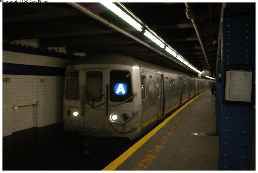 (122k, 1044x701)<br><b>Country:</b> United States<br><b>City:</b> New York<br><b>System:</b> New York City Transit<br><b>Line:</b> IND 8th Avenue Line<br><b>Location:</b> 59th Street/Columbus Circle <br><b>Route:</b> A<br><b>Car:</b> R-44 (St. Louis, 1971-73) 5398 <br><b>Photo by:</b> David Pirmann<br><b>Date:</b> 2/29/2004<br><b>Viewed (this week/total):</b> 0 / 5812