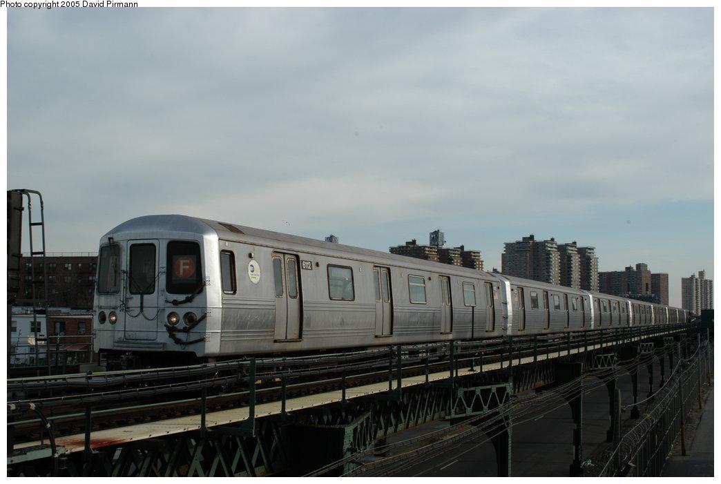 (143k, 1044x701)<br><b>Country:</b> United States<br><b>City:</b> New York<br><b>System:</b> New York City Transit<br><b>Line:</b> BMT Culver Line<br><b>Location:</b> Avenue X <br><b>Route:</b> F<br><b>Car:</b> R-46 (Pullman-Standard, 1974-75) 6112 <br><b>Photo by:</b> David Pirmann<br><b>Date:</b> 2/29/2004<br><b>Viewed (this week/total):</b> 1 / 3991