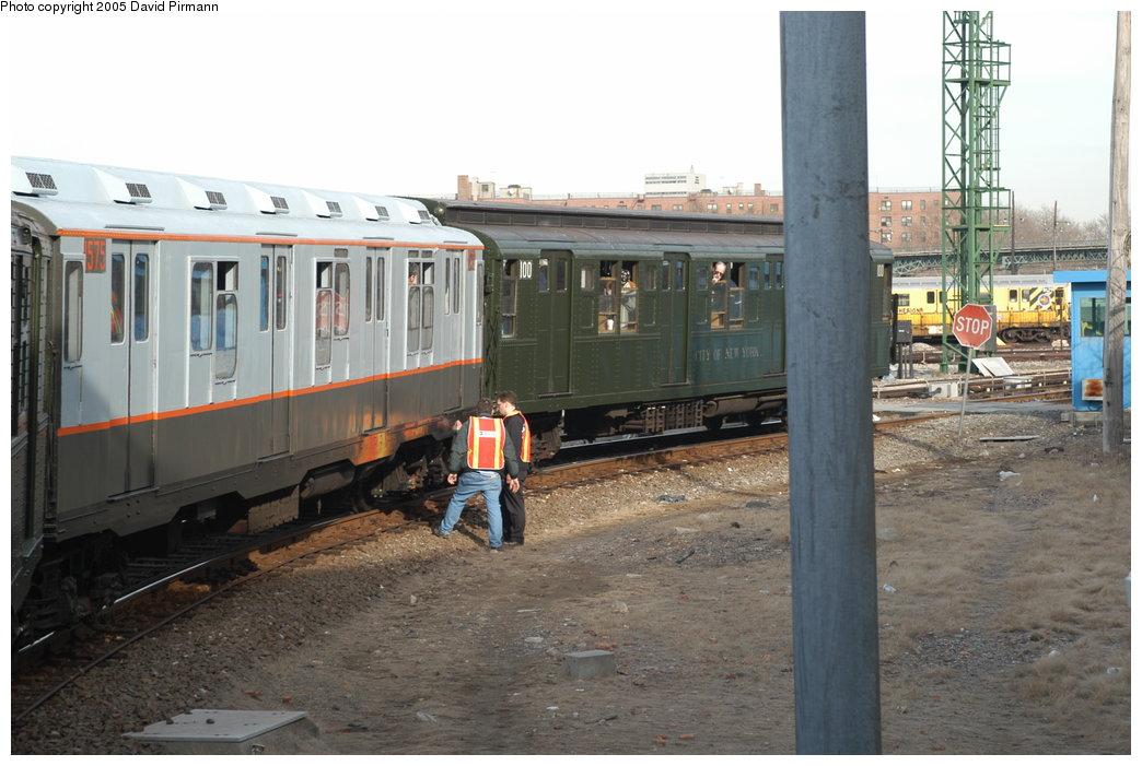(203k, 1044x701)<br><b>Country:</b> United States<br><b>City:</b> New York<br><b>System:</b> New York City Transit<br><b>Location:</b> Coney Island Yard<br><b>Route:</b> Fan Trip<br><b>Car:</b> R-7A (Pullman, 1938)  1575 <br><b>Photo by:</b> David Pirmann<br><b>Date:</b> 2/29/2004<br><b>Viewed (this week/total):</b> 1 / 4467