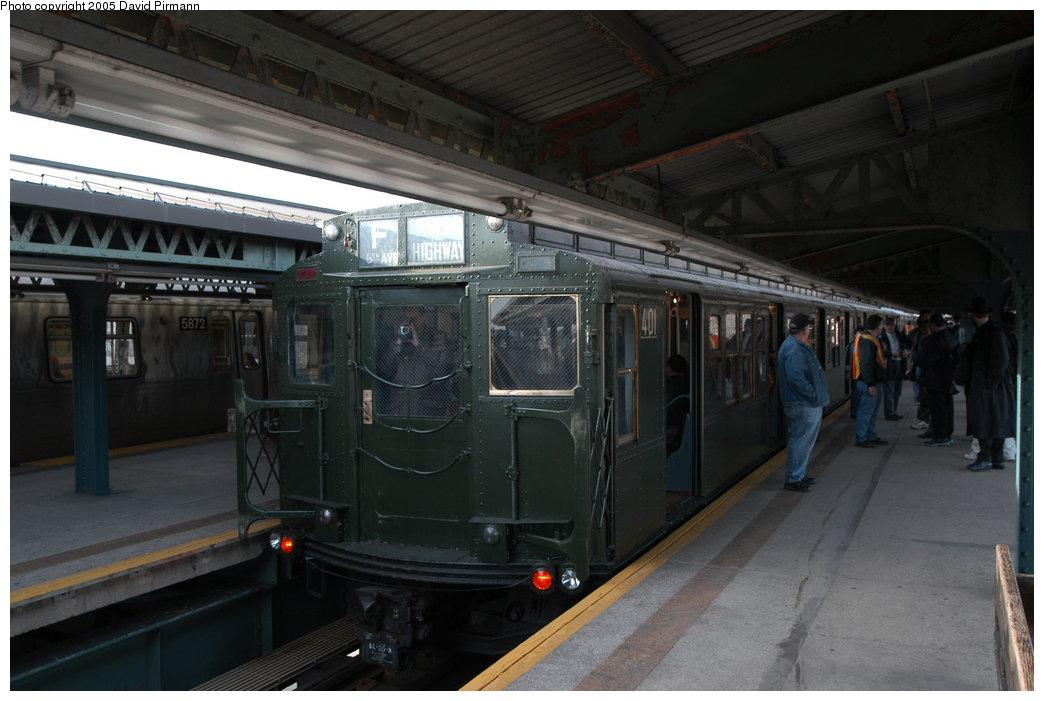 (178k, 1044x701)<br><b>Country:</b> United States<br><b>City:</b> New York<br><b>System:</b> New York City Transit<br><b>Line:</b> BMT Culver Line<br><b>Location:</b> 18th Avenue <br><b>Route:</b> Fan Trip<br><b>Car:</b> R-4 (American Car & Foundry, 1932-1933) 401 <br><b>Photo by:</b> David Pirmann<br><b>Date:</b> 2/29/2004<br><b>Viewed (this week/total):</b> 0 / 4008