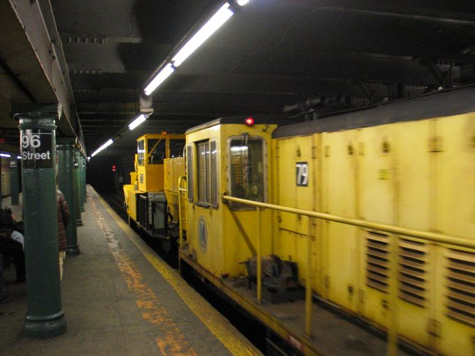 (59k, 682x511)<br><b>Country:</b> United States<br><b>City:</b> New York<br><b>System:</b> New York City Transit<br><b>Line:</b> IRT West Side Line<br><b>Location:</b> 96th Street <br><b>Car:</b> R-52 Locomotive  79 <br><b>Photo by:</b> Brian Weinberg<br><b>Date:</b> 3/9/2004<br><b>Viewed (this week/total):</b> 0 / 3055
