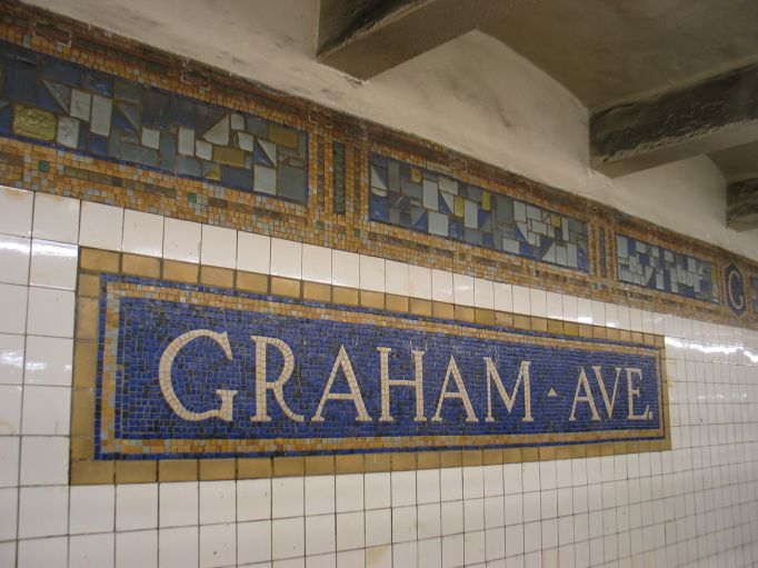 (68k, 682x511)<br><b>Country:</b> United States<br><b>City:</b> New York<br><b>System:</b> New York City Transit<br><b>Line:</b> BMT Canarsie Line<br><b>Location:</b> Graham Avenue <br><b>Photo by:</b> Brian Weinberg<br><b>Date:</b> 3/10/2004<br><b>Viewed (this week/total):</b> 1 / 2462