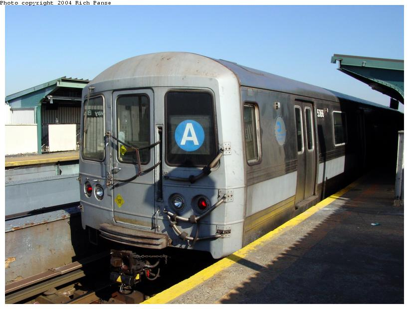 (76k, 820x620)<br><b>Country:</b> United States<br><b>City:</b> New York<br><b>System:</b> New York City Transit<br><b>Line:</b> IND Fulton Street Line<br><b>Location:</b> Rockaway Boulevard <br><b>Route:</b> A<br><b>Car:</b> R-44 (St. Louis, 1971-73) 5366 <br><b>Photo by:</b> Richard Panse<br><b>Date:</b> 2/10/2004<br><b>Viewed (this week/total):</b> 0 / 2922