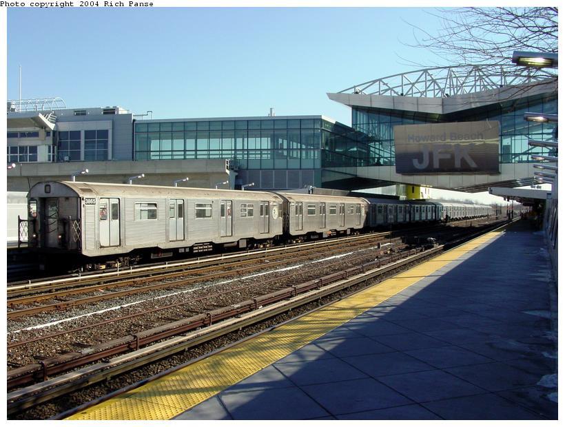(106k, 820x620)<br><b>Country:</b> United States<br><b>City:</b> New York<br><b>System:</b> New York City Transit<br><b>Line:</b> IND Rockaway<br><b>Location:</b> Howard Beach <br><b>Route:</b> A<br><b>Car:</b> R-32 (Budd, 1964)  3865 <br><b>Photo by:</b> Richard Panse<br><b>Date:</b> 2/10/2004<br><b>Viewed (this week/total):</b> 1 / 4666