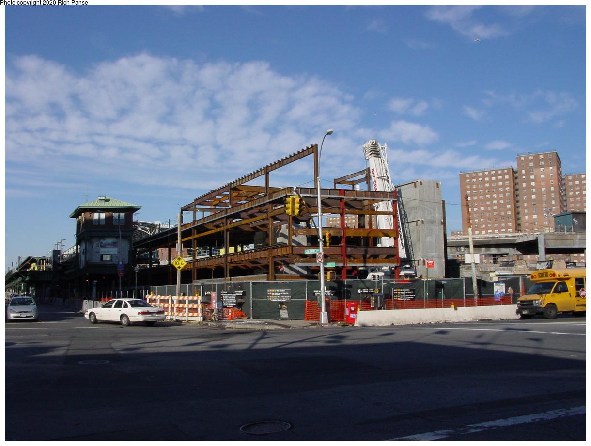 (70k, 820x620)<br><b>Country:</b> United States<br><b>City:</b> New York<br><b>System:</b> New York City Transit<br><b>Location:</b> Coney Island/Stillwell Avenue<br><b>Photo by:</b> Richard Panse<br><b>Date:</b> 2/4/2004<br><b>Notes:</b> New station house under construction<br><b>Viewed (this week/total):</b> 1 / 3284