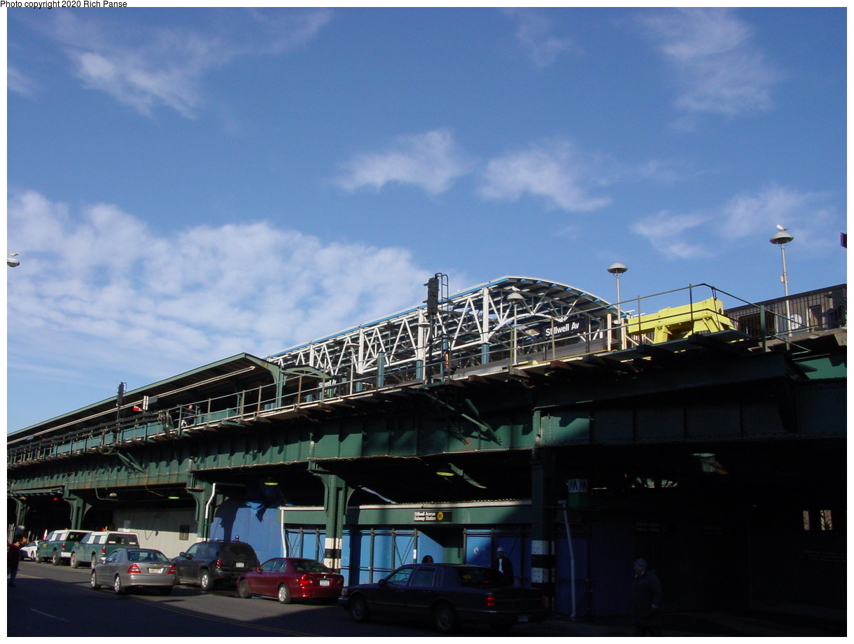 (62k, 820x620)<br><b>Country:</b> United States<br><b>City:</b> New York<br><b>System:</b> New York City Transit<br><b>Location:</b> Coney Island/Stillwell Avenue<br><b>Photo by:</b> Richard Panse<br><b>Date:</b> 2/4/2004<br><b>Notes:</b> Street view of new station<br><b>Viewed (this week/total):</b> 2 / 3092