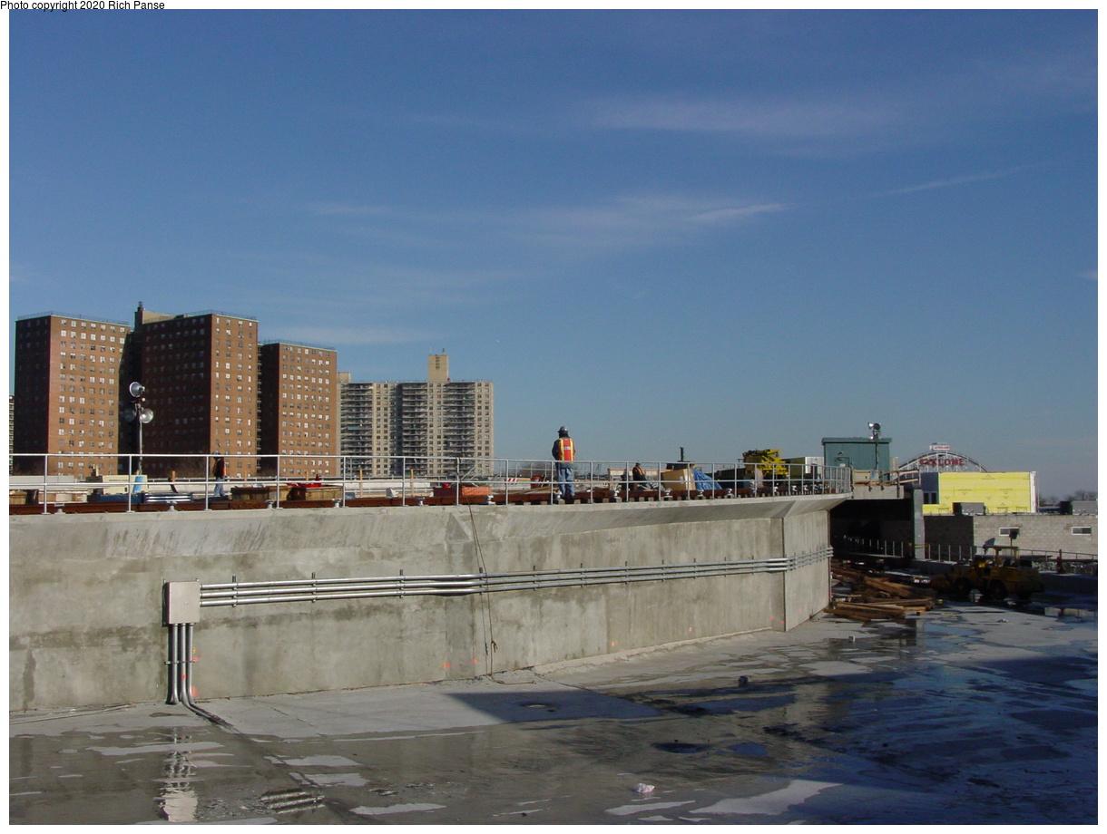 (59k, 820x620)<br><b>Country:</b> United States<br><b>City:</b> New York<br><b>System:</b> New York City Transit<br><b>Location:</b> Coney Island/Stillwell Avenue<br><b>Photo by:</b> Richard Panse<br><b>Date:</b> 2/4/2004<br><b>Notes:</b> View of new Brighton/Culver connections<br><b>Viewed (this week/total):</b> 0 / 3415