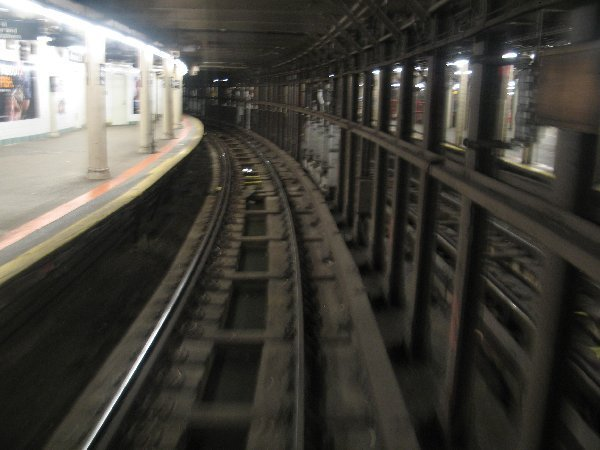 (45k, 600x450)<br><b>Country:</b> United States<br><b>City:</b> New York<br><b>System:</b> New York City Transit<br><b>Line:</b> IRT Times Square-Grand Central Shuttle<br><b>Location:</b> Times Square <br><b>Photo by:</b> The NX<br><b>Date:</b> 3/1/2010<br><b>Notes:</b> Shuttle rolling stock transfer - Almost at the crossover bridge.<br><b>Viewed (this week/total):</b> 0 / 1052