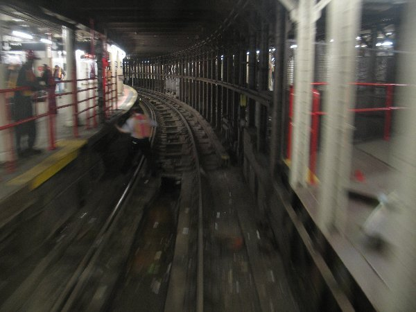 (46k, 600x450)<br><b>Country:</b> United States<br><b>City:</b> New York<br><b>System:</b> New York City Transit<br><b>Line:</b> IRT Times Square-Grand Central Shuttle<br><b>Location:</b> Times Square <br><b>Photo by:</b> The NX<br><b>Date:</b> 3/1/2010<br><b>Notes:</b> Shuttle rolling stock transfer - The crossover bridge area.<br><b>Viewed (this week/total):</b> 0 / 1359