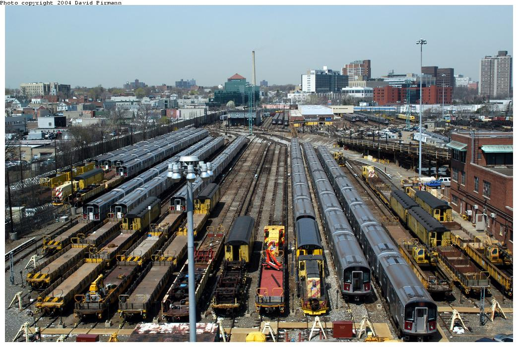 (208k, 1044x701)<br><b>Country:</b> United States<br><b>City:</b> New York<br><b>System:</b> New York City Transit<br><b>Location:</b> Westchester Yard<br><b>Photo by:</b> David Pirmann<br><b>Date:</b> 4/17/2004<br><b>Viewed (this week/total):</b> 0 / 4549