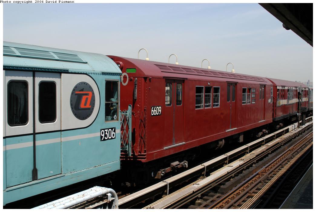 (157k, 1044x701)<br><b>Country:</b> United States<br><b>City:</b> New York<br><b>System:</b> New York City Transit<br><b>Line:</b> IRT Pelham Line<br><b>Location:</b> Westchester Square <br><b>Route:</b> Fan Trip<br><b>Car:</b> R-17 (St. Louis, 1955-56) 6609 <br><b>Photo by:</b> David Pirmann<br><b>Date:</b> 4/17/2004<br><b>Viewed (this week/total):</b> 3 / 2829