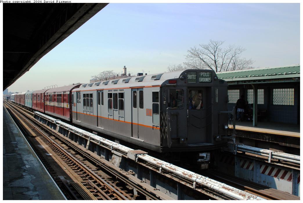 (152k, 1044x701)<br><b>Country:</b> United States<br><b>City:</b> New York<br><b>System:</b> New York City Transit<br><b>Line:</b> IRT Pelham Line<br><b>Location:</b> Westchester Square <br><b>Route:</b> Fan Trip<br><b>Car:</b> R-12 (American Car & Foundry, 1948) 5760 <br><b>Photo by:</b> David Pirmann<br><b>Date:</b> 4/17/2004<br><b>Viewed (this week/total):</b> 0 / 2991