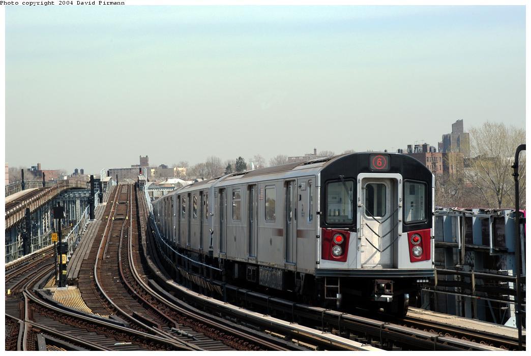 (157k, 1044x701)<br><b>Country:</b> United States<br><b>City:</b> New York<br><b>System:</b> New York City Transit<br><b>Line:</b> IRT Pelham Line<br><b>Location:</b> Westchester Square <br><b>Route:</b> 6<br><b>Car:</b> R-142A (Primary Order, Kawasaki, 1999-2002)  7601 <br><b>Photo by:</b> David Pirmann<br><b>Date:</b> 4/17/2004<br><b>Viewed (this week/total):</b> 0 / 5617