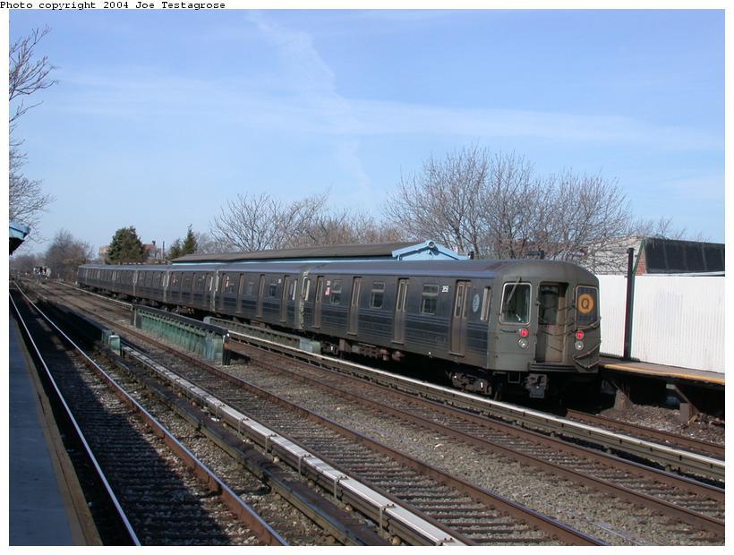 (115k, 820x620)<br><b>Country:</b> United States<br><b>City:</b> New York<br><b>System:</b> New York City Transit<br><b>Line:</b> BMT Brighton Line<br><b>Location:</b> Neck Road <br><b>Route:</b> Q<br><b>Car:</b> R-68 (Westinghouse-Amrail, 1986-1988)  2858 <br><b>Photo by:</b> Joe Testagrose<br><b>Date:</b> 2/28/2004<br><b>Viewed (this week/total):</b> 0 / 3453