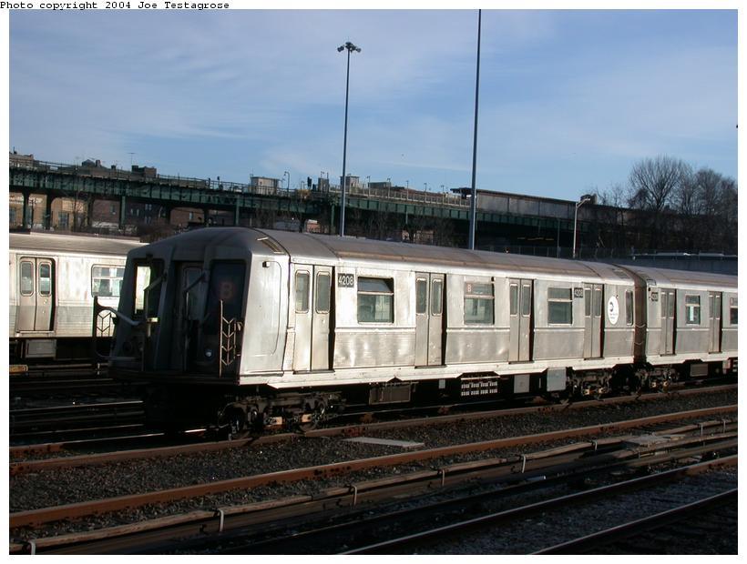 (108k, 820x620)<br><b>Country:</b> United States<br><b>City:</b> New York<br><b>System:</b> New York City Transit<br><b>Location:</b> Concourse Yard<br><b>Car:</b> R-40 (St. Louis, 1968)  4208 <br><b>Photo by:</b> Joe Testagrose<br><b>Date:</b> 2/28/2004<br><b>Viewed (this week/total):</b> 3 / 4021