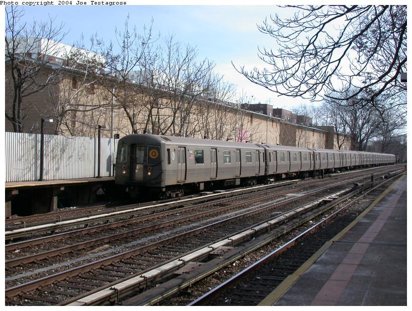 (162k, 820x620)<br><b>Country:</b> United States<br><b>City:</b> New York<br><b>System:</b> New York City Transit<br><b>Line:</b> BMT Brighton Line<br><b>Location:</b> Avenue H <br><b>Route:</b> Q<br><b>Car:</b> R-68A (Kawasaki, 1988-1989)  5002 <br><b>Photo by:</b> Joe Testagrose<br><b>Date:</b> 2/29/2004<br><b>Viewed (this week/total):</b> 1 / 4037