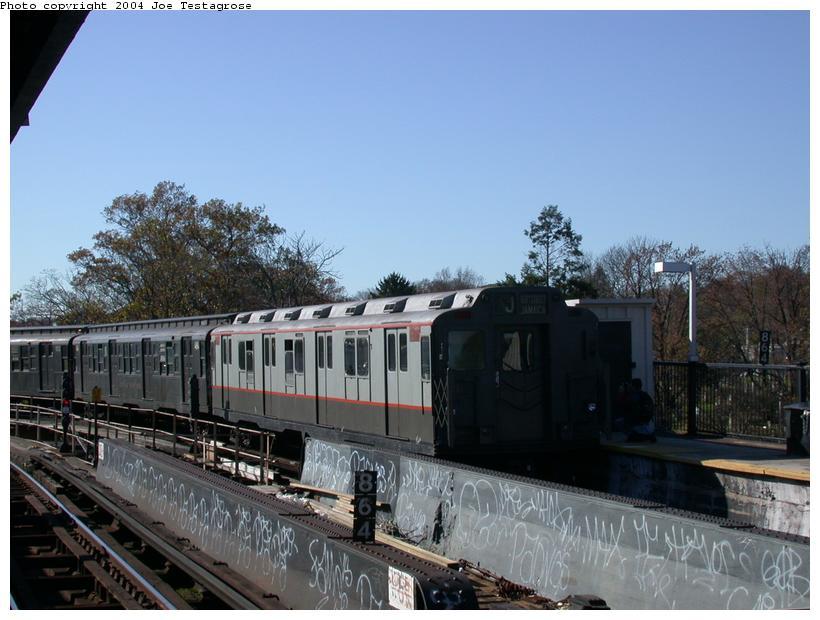 (108k, 820x620)<br><b>Country:</b> United States<br><b>City:</b> New York<br><b>System:</b> New York City Transit<br><b>Line:</b> BMT Nassau Street/Jamaica Line<br><b>Location:</b> Cypress Hills <br><b>Route:</b> Fan Trip<br><b>Car:</b> R-7A (Pullman, 1938)  1575 <br><b>Photo by:</b> Joe Testagrose<br><b>Date:</b> 11/9/2003<br><b>Viewed (this week/total):</b> 0 / 2757