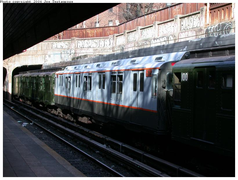 (119k, 820x620)<br><b>Country:</b> United States<br><b>City:</b> New York<br><b>System:</b> New York City Transit<br><b>Line:</b> BMT Brighton Line<br><b>Location:</b> Church Avenue <br><b>Route:</b> Fan Trip<br><b>Car:</b> R-7A (Pullman, 1938)  1575 <br><b>Photo by:</b> Joe Testagrose<br><b>Date:</b> 2/28/2004<br><b>Viewed (this week/total):</b> 2 / 3724