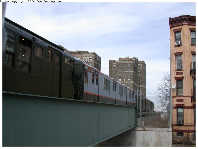 (88k, 820x620)<br><b>Country:</b> United States<br><b>City:</b> New York<br><b>System:</b> New York City Transit<br><b>Line:</b> BMT Franklin<br><b>Location:</b> Park Place <br><b>Route:</b> Fan Trip<br><b>Car:</b> R-7A (Pullman, 1938)  1575 <br><b>Photo by:</b> Joe Testagrose<br><b>Date:</b> 2/29/2004<br><b>Viewed (this week/total):</b> 1 / 4159