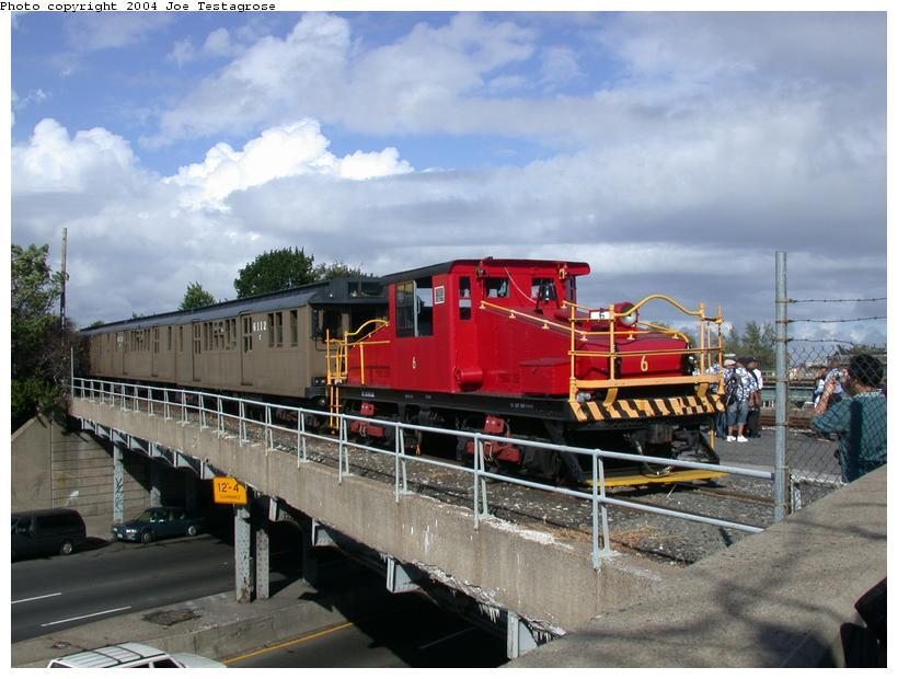 (112k, 820x620)<br><b>Country:</b> United States<br><b>City:</b> New York<br><b>System:</b> New York City Transit<br><b>Location:</b> Linden Yard <br><b>Route:</b> Fan Trip<br><b>Car:</b> SBK Steeplecab 6 <br><b>Photo by:</b> Joe Testagrose<br><b>Date:</b> 9/27/2003<br><b>Viewed (this week/total):</b> 1 / 2135