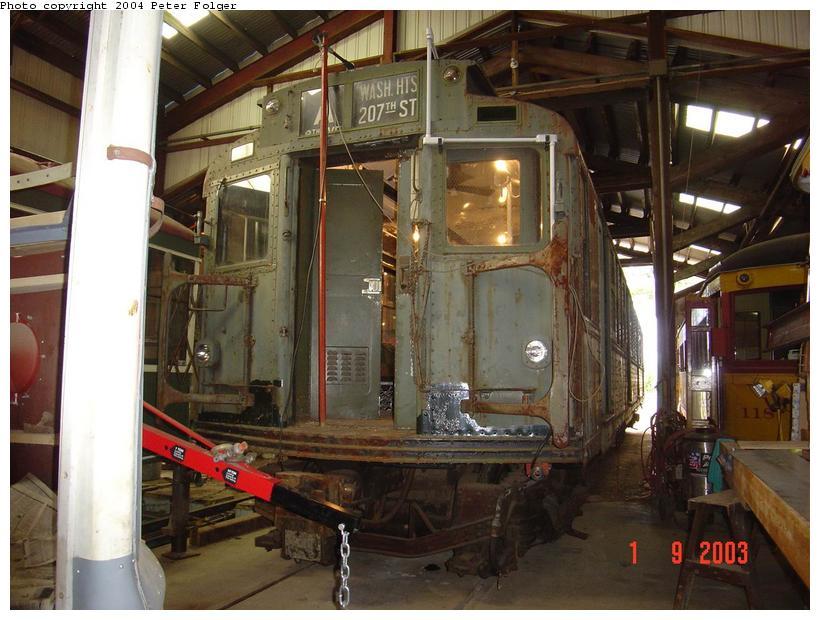 (93k, 820x620)<br><b>Country:</b> United States<br><b>City:</b> Kennebunk, ME<br><b>System:</b> Seashore Trolley Museum <br><b>Car:</b> R-4 (American Car & Foundry, 1932-1933) 800 <br><b>Photo by:</b> Peter Folger<br><b>Date:</b> 9/1/2003<br><b>Viewed (this week/total):</b> 3 / 2992