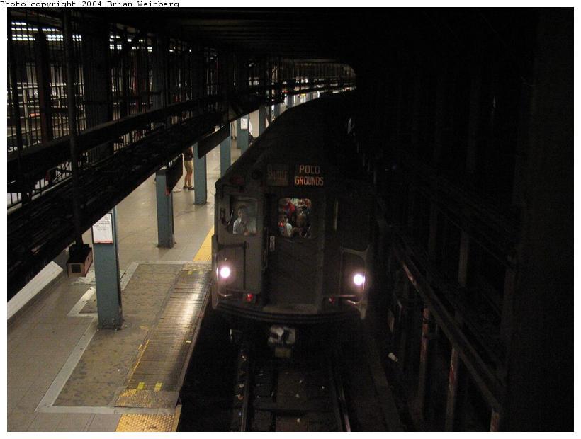 (63k, 820x620)<br><b>Country:</b> United States<br><b>City:</b> New York<br><b>System:</b> New York City Transit<br><b>Line:</b> IRT East Side Line<br><b>Location:</b> 14th Street/Union Square <br><b>Route:</b> Fan Trip<br><b>Car:</b> R-12 (American Car & Foundry, 1948) 5760 <br><b>Photo by:</b> Brian Weinberg<br><b>Date:</b> 4/18/2004<br><b>Viewed (this week/total):</b> 6 / 4635