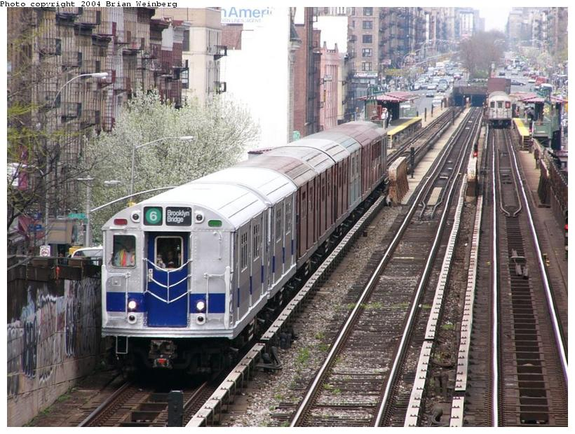 (129k, 820x620)<br><b>Country:</b> United States<br><b>City:</b> New York<br><b>System:</b> New York City Transit<br><b>Line:</b> IRT West Side Line<br><b>Location:</b> 125th Street <br><b>Route:</b> Fan Trip<br><b>Car:</b> R-33 Main Line (St. Louis, 1962-63) 9010 <br><b>Photo by:</b> Brian Weinberg<br><b>Date:</b> 4/18/2004<br><b>Viewed (this week/total):</b> 0 / 5286