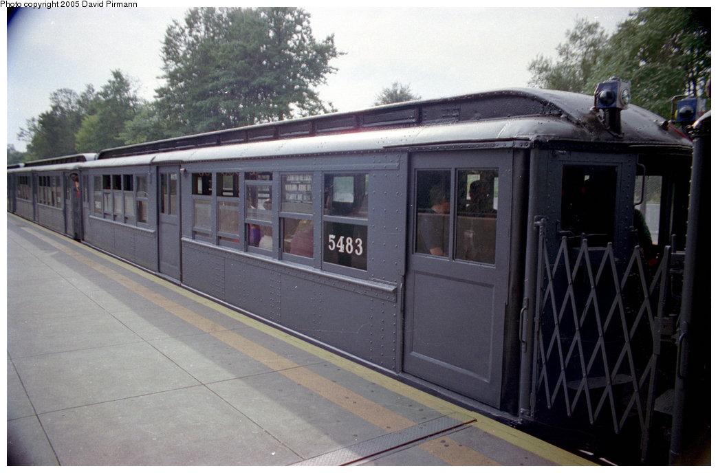 (168k, 1044x688)<br><b>Country:</b> United States<br><b>City:</b> New York<br><b>System:</b> New York City Transit<br><b>Line:</b> IRT Dyre Ave. Line<br><b>Location:</b> Baychester Avenue <br><b>Route:</b> Fan Trip<br><b>Car:</b> Low-V (Museum Train) 5483 <br><b>Photo by:</b> David Pirmann<br><b>Date:</b> 9/13/1998<br><b>Viewed (this week/total):</b> 0 / 2990