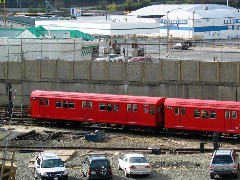 (145k, 950x713)<br><b>Country:</b> United States<br><b>City:</b> New York<br><b>System:</b> New York City Transit<br><b>Line:</b> IRT West Side Line<br><b>Location:</b> 207th Street Yard<br><b>Route:</b> Fan Trip<br><b>Car:</b> R-33 Main Line (St. Louis, 1962-63) 9017 <br><b>Photo by:</b> David of Broadway<br><b>Date:</b> 4/25/2004<br><b>Viewed (this week/total):</b> 1 / 3079