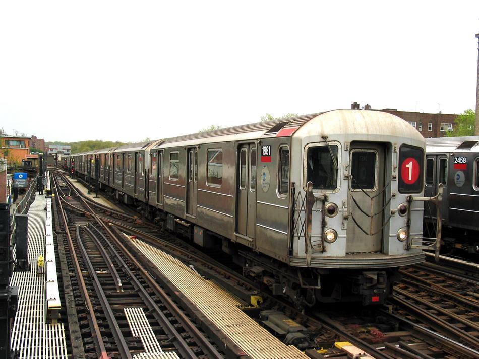 (103k, 950x713)<br><b>Country:</b> United States<br><b>City:</b> New York<br><b>System:</b> New York City Transit<br><b>Line:</b> IRT West Side Line<br><b>Location:</b> 238th Street <br><b>Route:</b> 1<br><b>Car:</b> R-62A (Bombardier, 1984-1987)  1881 <br><b>Photo by:</b> David of Broadway<br><b>Date:</b> 4/25/2004<br><b>Viewed (this week/total):</b> 1 / 3699