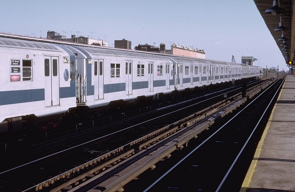 (178k, 1024x667)<br><b>Country:</b> United States<br><b>City:</b> New York<br><b>System:</b> New York City Transit<br><b>Line:</b> BMT Culver Line<br><b>Location:</b> Ditmas Avenue <br><b>Route:</b> F<br><b>Car:</b> R-16 (American Car & Foundry, 1955) 6418 (ex-6400)<br><b>Photo by:</b> Doug Grotjahn<br><b>Collection of:</b> Joe Testagrose<br><b>Date:</b> 8/20/1972<br><b>Viewed (this week/total):</b> 8 / 3738