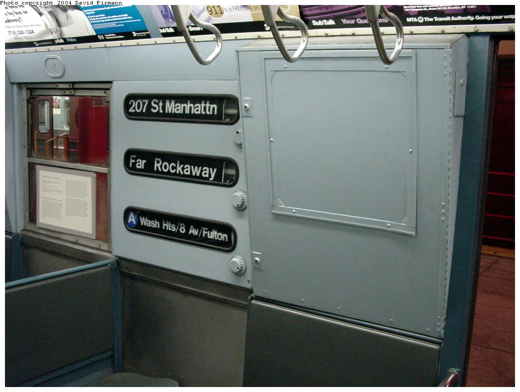 (110k, 1044x788)<br><b>Country:</b> United States<br><b>City:</b> New York<br><b>System:</b> New York City Transit<br><b>Location:</b> New York Transit Museum<br><b>Car:</b> R-16 (American Car & Foundry, 1955) 6387 <br><b>Photo by:</b> David Pirmann<br><b>Date:</b> 3/12/2000<br><b>Viewed (this week/total):</b> 10 / 18995