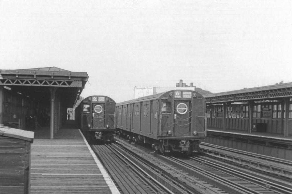 (188k, 1024x683)<br><b>Country:</b> United States<br><b>City:</b> New York<br><b>System:</b> New York City Transit<br><b>Line:</b> IRT Pelham Line<br><b>Location:</b> Buhre Avenue <br><b>Route:</b> 6<br><b>Car:</b> R-17 (St. Louis, 1955-56)  <br><b>Collection of:</b> David Pirmann<br><b>Viewed (this week/total):</b> 2 / 3890