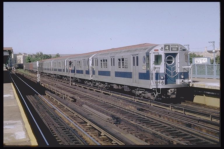 (135k, 768x512)<br><b>Country:</b> United States<br><b>City:</b> New York<br><b>System:</b> New York City Transit<br><b>Line:</b> IRT Woodlawn Line<br><b>Location:</b> Bedford Park Boulevard<br><b>Route:</b> 4<br><b>Car:</b> R-17 (St. Louis, 1955-56) 6523 <br><b>Photo by:</b> Joe Testagrose<br><b>Date:</b> 6/13/1970<br><b>Viewed (this week/total):</b> 2 / 3779