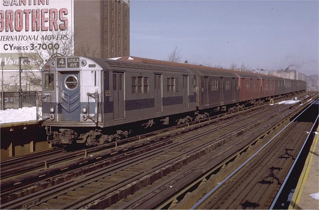 (236k, 1024x676)<br><b>Country:</b> United States<br><b>City:</b> New York<br><b>System:</b> New York City Transit<br><b>Line:</b> IRT Woodlawn Line<br><b>Location:</b> 170th Street <br><b>Route:</b> 4<br><b>Car:</b> R-17 (St. Louis, 1955-56) 6535 <br><b>Photo by:</b> Joe Testagrose<br><b>Date:</b> 1/2/1971<br><b>Viewed (this week/total):</b> 0 / 3067