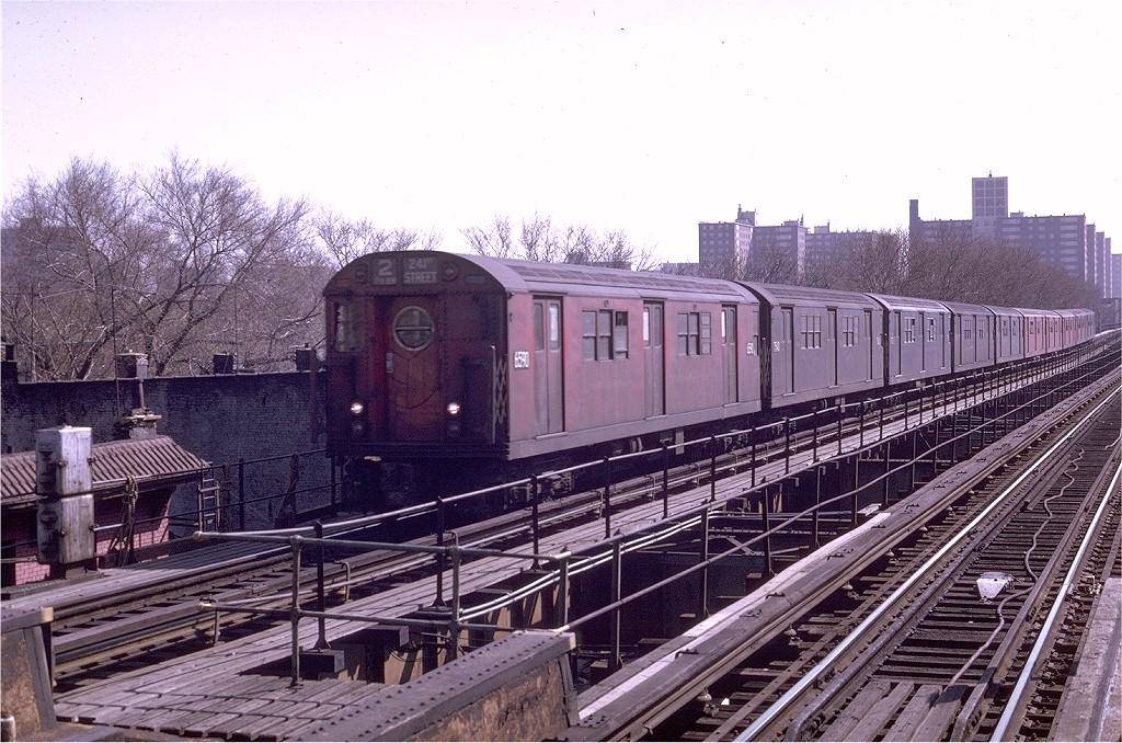 (245k, 1024x678)<br><b>Country:</b> United States<br><b>City:</b> New York<br><b>System:</b> New York City Transit<br><b>Line:</b> IRT Brooklyn Line<br><b>Location:</b> Saratoga Avenue <br><b>Route:</b> 2<br><b>Car:</b> R-17 (St. Louis, 1955-56) 6590 <br><b>Photo by:</b> Joe Testagrose<br><b>Date:</b> 4/25/1970<br><b>Viewed (this week/total):</b> 3 / 4152