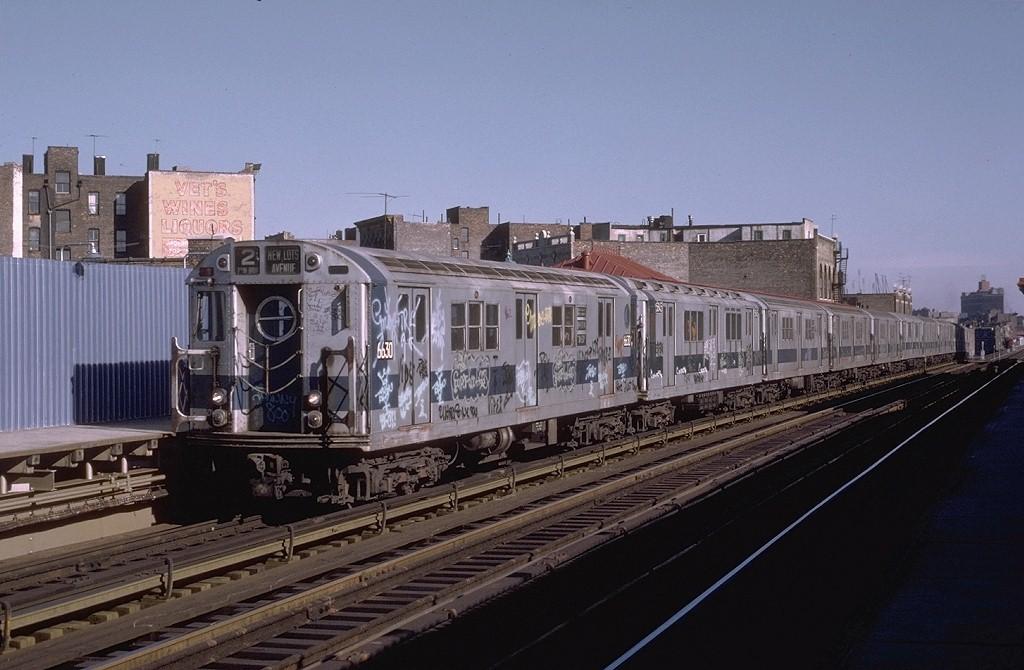 (176k, 1024x670)<br><b>Country:</b> United States<br><b>City:</b> New York<br><b>System:</b> New York City Transit<br><b>Line:</b> IRT White Plains Road Line<br><b>Location:</b> Prospect Avenue <br><b>Route:</b> 2<br><b>Car:</b> R-17 (St. Louis, 1955-56) 6630 <br><b>Photo by:</b> Joe Testagrose<br><b>Date:</b> 11/23/1972<br><b>Viewed (this week/total):</b> 5 / 4111